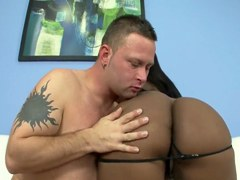 XXX Coño Negro – Mujer de negro tetona Jayden Starr ama gallo blanco